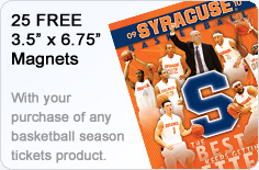 25 Free magnets with you purchase of any season ticket product.