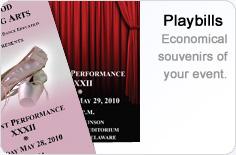 Playbills. Economical souvenirs of your events.