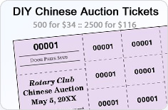 Chinese Raffle Tickets