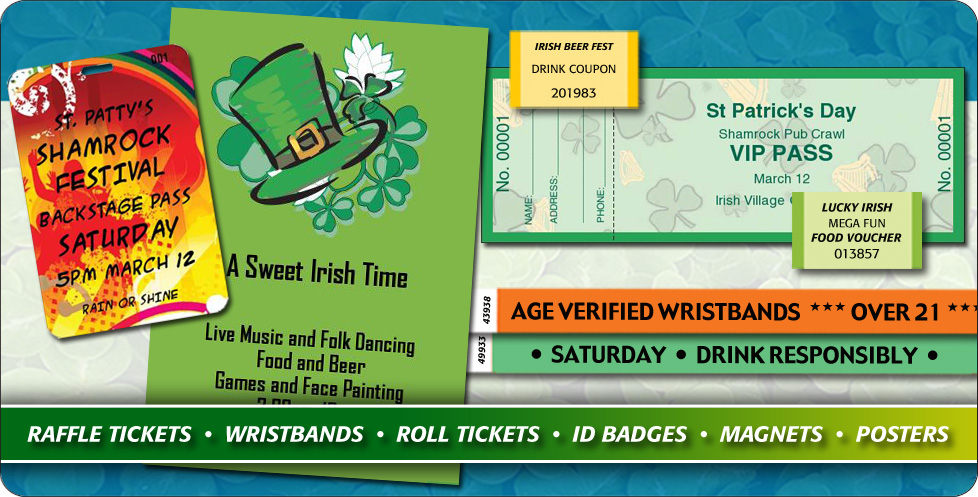 Fill your event with all things green for St. Patricks Day