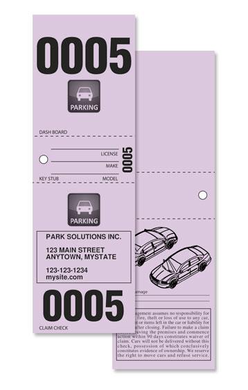 DIY Valet Parking tickets