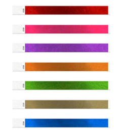 Metallic Tyvek Wristbands