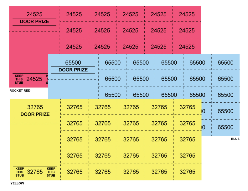 Numbered Chinese RaffleAuction Tickets – Numbered Raffle Ticket Template Free