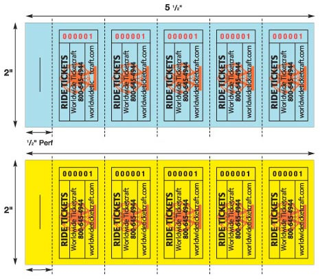 ride ticket strip pads